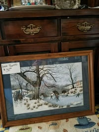 Hand Painted Framed winter paintingby Elaine Knoll Hagerstown, 21740