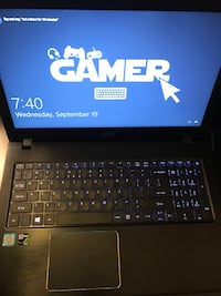 "Acer Aspire E15 with a 32"" HP omen gaming monitor Chantilly"