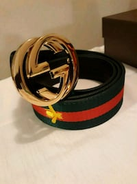 black and red Gucci leather belt Houston, 77042