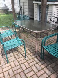 Backyard table with chairs Somerville, 02143