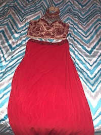 Women's red and nude 2 piece skirt and top Huntsville, 35824