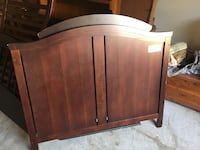 brown wooden headboard and footboard Humble, 77346