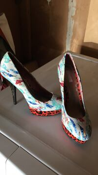 pair of multicolored leather stiletto pumps Pinole, 94564