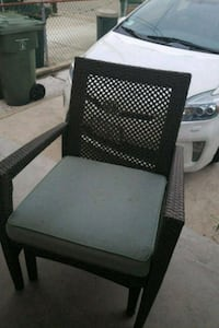 Two teal outdoor chairs  Baltimore, 21211