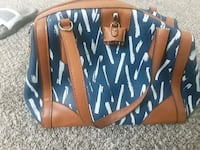 London fog blue and brown  leather tote bag Kansas City, 64137