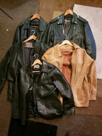 5 different style mens leather coats Los Angeles, 90027