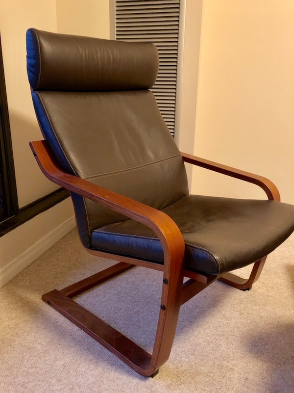 Ikea leather chair. Mint condition . 118cda7a-9eed-4c87-8a71-10d1311470f8