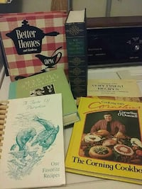 6 cookbooks  for   $6