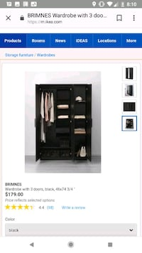 black wooden wardrobe screenshot Brampton, L6W 2A9