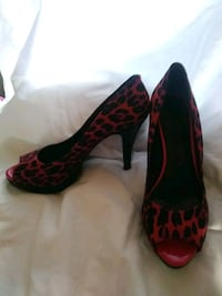 pair of red-and-black platform stilettos Fort Worth, 76135