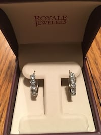 SECOND PRICE DROP! REAL Aquamarine Silver Earrings Ellicott City, 21043
