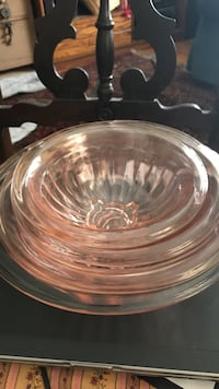 Pink Depression Glass 1930's - 4 beautiful nesting mixing bowls Eau Claire, 54703