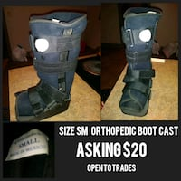 Orthopedic Boot Cast size small Huntsville