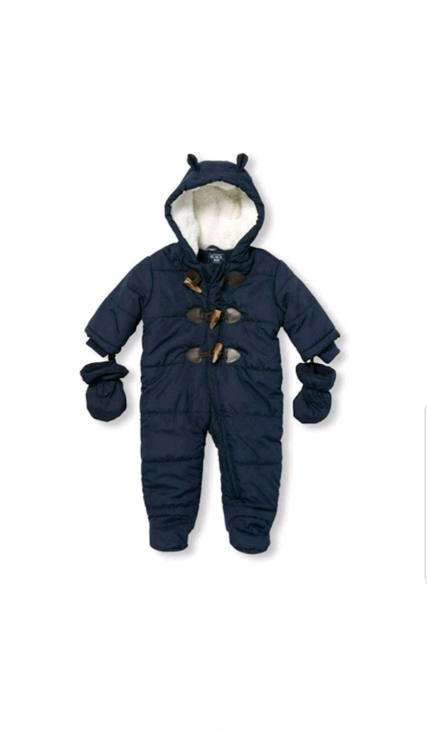 New childrens place snowsuit + baby stuff