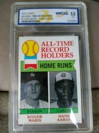 All-time record holders trading card Greer, 29651