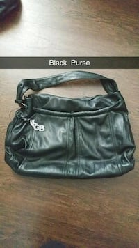 black leather Coach hobo bag