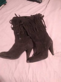 size 8 brown leather boots Mississauga, L4W 3Z9