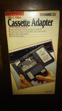Ambico Vhs-c Video Cassette Adapter Parkville, 21234