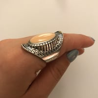 Statement Ring with Pink Stone  Toronto, M5S 2P8