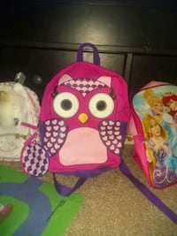 Girls Owl Backpack and Mini Attachment