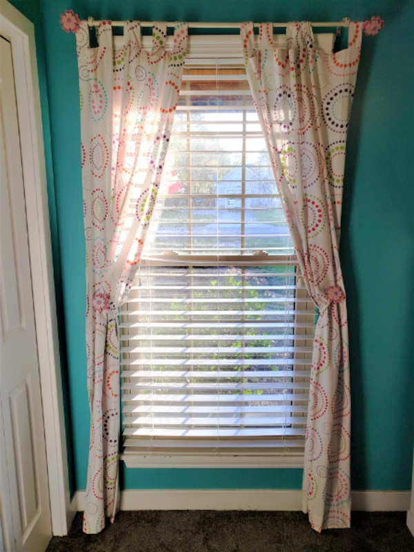 Peachy Girls Bedroom Curtains Curtain Rod And Flower Ho Best Image Libraries Thycampuscom