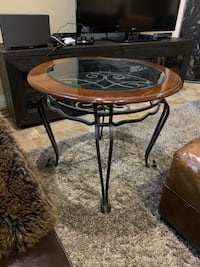 End tables. Alexander Julian. Rod iron base glass top. Two available Toronto, M2N 1G6