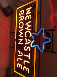 Newcastle neon bar sign. Weighs 15 lbs easy to hang.  Las Vegas, 89148