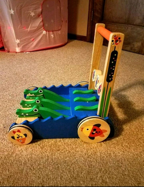 Melissa and Doug wooden push toy