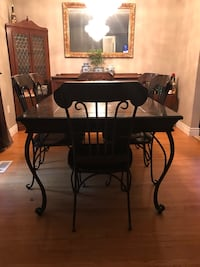 Dining and living room set- solid wood and iron Hamilton, L8N