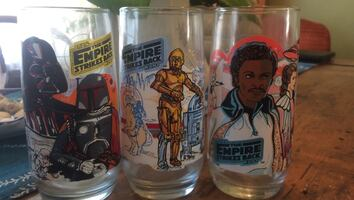 Three Star Wars Empire Strikes Back glasses