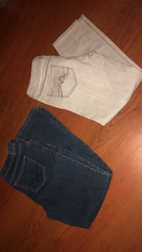 two blue and gray denim bottoms Dolton, 60419