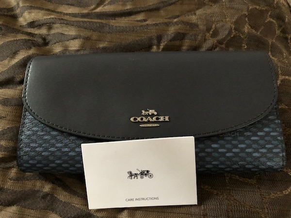 6c164acff10 Used black and gray Coach monogram wallet for sale in Stone Mountain ...