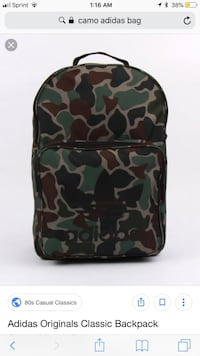 black and gray camouflage backpack Tulsa, 74114