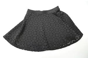 Women's Bethany Mota Flare Skirt Black Cut Out Design Size XS Fashion