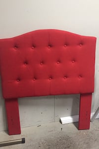 Twin size buttoned headboard in strawberry red.  Langley, V1M 2P8