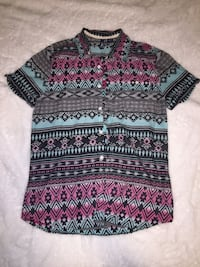 black, red, and gray tribal print sweater Calgary, T3J 4R1