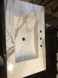 Faux Marble Vanity COUNTER *TOP* ONLY