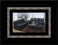 U6900 Black bonded leather sofa and loveseat District Heights, 20747