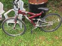 red and white full-suspension bike Harpers Ferry, 25425