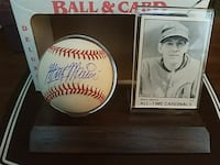 Autographed Marty Marion baseball with card