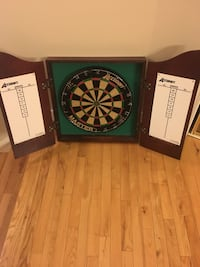 black and green dartboard with box Calgary, T3K 3H4