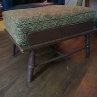 Antique wooden footstool w/ removable cushion Wilmington, 28401