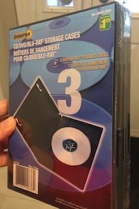 DVD/Blu Ray Cases (13 packages of 3 available) $10 for all