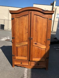 brown wooden 2-door cabinet Surrey, V3X 1A4