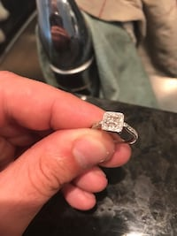 10K White Gold .75 CT diamond engagement ring and wedding band Rocky View No. 44