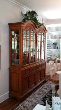 Dinning room hutch with upper glass doors
