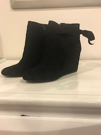 Black Wedge Booties - New - Size 10 Manassas