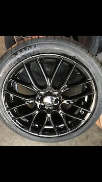 """17"""" new Blk gloss clubmen style new rims tires set"""