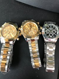 three round silver-colored chronograph watches Hamtramck, 48212