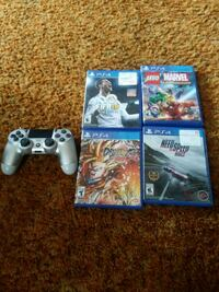 PS4 controller and 4 games Taylors, 29687